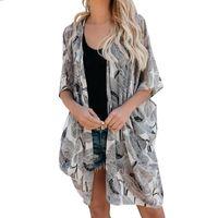 Women Blouses Summer Nice Chiffon Fashion Coat Tops Suit Bikini Swimwear Beach Swimsuit Long Smock Women's & Shirts