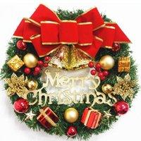Beautiful 30cm / 12 pouces artificielle Couronne de Noël porte de la porte d'ornement de mur ornement de la guirlande de rattance suspendue ornements d'ornements d'arc de la fête de la fenêtre de la fenêtre HY0134