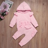 Clothing Sets Infant Baby Girls Long Sleeve Hoodie Tops Ruffles Pants Outfits Clothes Kids Girsl Boys Birthday Gift 0-24M