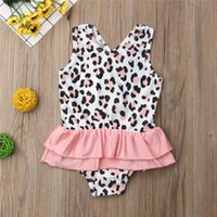 One-Pieces Baby Clothes Kids Swimwear For Girls Sexy Leopard Print Open Back Mesh One-Piece Summer Mayo De Bain Enfant Fille E1