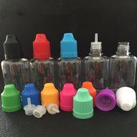 DHL 30ml E-Liquid E-Saft-Haustier-Kunststoff-leerer Speicher-Flasche-Vape-Ecig-Öl-Nadel-Troppfe-Flaschen Container Jar tragbar mit kinderfesten Kappen