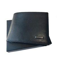 Titular de la tarjeta para hombre Cartera de cuero de alta calidad monedero monedero licencia de conducir plegable artesanal portátil bolso de dinero