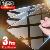 Cell Phone Screen Protectors 3 pçs vidro temperado no para o iphone 12 11 promax x xs xr protetor