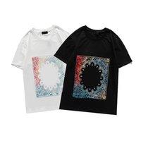 2021 눈 남성용 티셔츠 여름 반팔 패션 프린트 탑 캐주얼 야외 티셔츠 크루 넥 옷 색상 M-3XL # 126