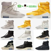 [Kutu ile] 2021 Amarillo FOG Fear of God X 1 SA 180 Raid Boots Light Bone Luxury Designers Running Shoes Sail Sail Outdoor Sports Shoes 36-46