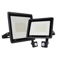 Floodlights LED Flood Light 220V 10W 20W 30W 50W 100W Street Lamp PIR Motion Sensor Wall Spotlight IP66 Waterproof Garden Outdoor Lighting