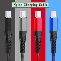 낚시 그물 전화 케이블 1m 3FT USB 마이크로 내구성 2.4A TYPE-C 케이블 전송 및 빠른 충전기
