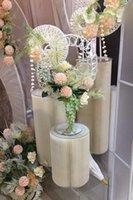 حزب الديكور زفاف الدعائم الإبداعية نافذة عرض جميلة تشن الحلوى الجدول ورقة قابلة للطي عمود دليل العمود الروماني.