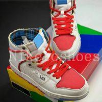 Ishod Wair x Magnus Walker Jumpman Alto Skate Shoes Branco Azul Vermelho Sail 277 Treinador Casual Urbano Outraw