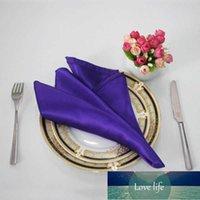 100 шт. 30 * 30 см атласные салфетки банкетные ужин ткани карманные платки для домашнего вечеринка событие свадебный стол украшения