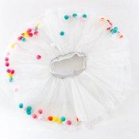 Skirts 2021 Summer Baby Multilayer Tulle Tutu Skirt Colorful Pom Princess Mini Dress Children Clothing Pettiskirt Girl Clothes