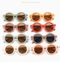 Gafas redondas retro Kid Street Snap Sunglasses Summer Style 2021 Nueva personalidad de alta calidad Kids UV Gafas de sol plásticas OWC6833