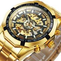 デザイナーウォッチブランド時計高級時計ゴールドスケルトンビンテージマンメンズトップ