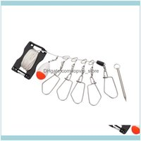 Sports & Outdoorsset Of Fish Skewers Kit Stainless Steel Wire Lock Buckle Multi-Function Lure Fishing Stringer Tackle Box Tools Aessories Dr