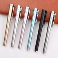 Gel Pens 6pcs lot Plastic Ballpoint Pen Oiled Advertising Gift Signature Custom School Office Stationery Wholesale