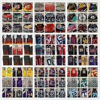 디지털 인쇄 큰 얼굴 Mitchell 및 NESS 레트로 농구 유니폼 포켓 반바지 망 진한 파란색 빨간색 회색 회색 검은 흰색 저지 포켓 짧은 크기 S-XXL