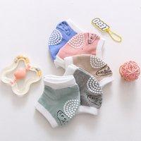 Baby Socks Non Slip Knee Protector For Crawl Pad Tumble Boy Girl Cotton Permeable Leg Warmer Smile