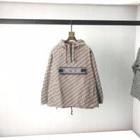 21ss Fransız Bahar Sonbahar Moda Mektuplar Baskı Dikiş Tam Dolu Gevşek Ceket Ünlü Aristokrat erkek Tasarımcı Güneş Kremi Erkekler ve Kadınlar Kıdemli Kapüşonlu Ceket