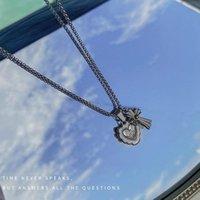 Chains Necklace Women Hearts Cross Necklaces Woman Jewelry Ladies Design Unisex Pendant Silver Color Trendy Party Zinc Alloy Naszyjnik