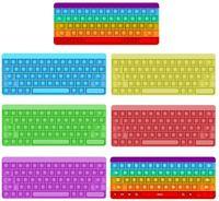 DECOMPRESSIONE PUSH PUSH PUSH BUBBLE SEMPLICE DUSPELLO Fidget Anti Stress Rainbow Keyboard Adulto Autism Sollievo Sensory Pad Giocattoli