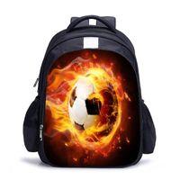 Mochila Ergonómica Senderismo Unisex Deporte Fútbol Impreso Impreso Escuela Daily School Bag Student Casual Soft Travel Oxford Tejed Multi Bolsets