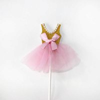 Party Decoration Dress inserts cards 5 pcs bag Fondant inserter cake topper stand decoration DIY craft insert card Baking Accessories P0XQ