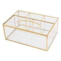 Nordic Glass Serviette Tissue Box Toilettenpapierhülle Container Make-up Lagerhalter R9jc Boxen Bins
