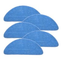 Cleaning Cloths 5 10x Mop Cloth Blue For Proscenic 800T Vacuum Cleaner Replacement Accessories