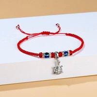 Ссылка, цепь синий турецкий злой глаз очарование для женщин мужчины ручной работы ювелирные украшения подарок Rinhoo Lucky Red String нить еда HAMSA подвесной браслет