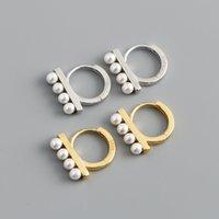 Delicate jóias 925 esterlina prata huggie aro brincos design pérola para amigo guangzhou de alta qualidade meninas presente 18k ouro jewellry atacado fábrica na China