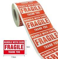 500pcs Avvertimento Avvertimento Adesivi adesivi Adesivi fragili con cura Grazie Sticker etichetta Adesivo 1 Roll 2x3 pollici (50 x 75mm)