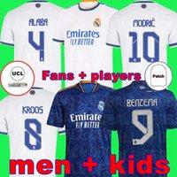 REAL MADRID camisas 22 21 camisa de futebol HAZARD SERGIO RAMOS BENZEMA VINICIUS camiseta camisa de futebol uniformes homens + crianças kit 2022 2021 ALBA
