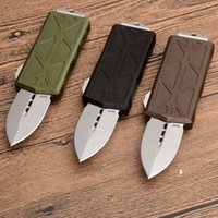 MT Mini flying fish TS UT85 EDC Key Clasp knife Bench BM Double action Auto Hiking Tactical Hunting 6061 aluminum handle