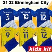 21 22 Birmingham City Kids Kit Soccer Jerseys Jutkiewicz Hogan Dean Bela Pedersen Sunjic Home Away Fotbollskjortor Barnkläder Kortärmad