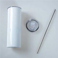 Tasse élégante Tasse de 20oz sublimé en acier inoxydable de 600 ml de grande capacité Coupe-cadeau créatif personnalisé