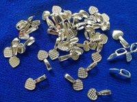 200pcs argento placcato colla in metallo su cauzione cuore fascino pendente in bianco spazi cabochon impostazioni A11586sp per il processo di gioielli