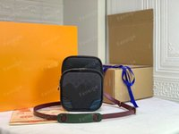 M45439 الرجال الصدر فائدة حقائب جانبية رسول crossbody حقيقي جلد البقر مصمم قماش الكتف الخصر حقيبة محفظة