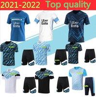 أولمبيك دي مرسيليا لكرة القدم جيرسي لكرة القدم قمصان 2021 قصيرة الأكمام بولو أوم القدم بايت ستييت Thauvin Benedetto