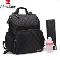 AIMABABY WIRPER BAG Mode Mama Mutterschaft Windel Bag Marke Baby Reisen Rucksack Windel Organizer Pflegebeutel Für Kinderwagen 210326
