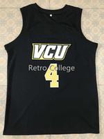 # 4 Justin Tillman VCU 대학 농구 유니폼 던지기 Stitche 자수 유니폼 사용자 정의 모든 번호와 이름