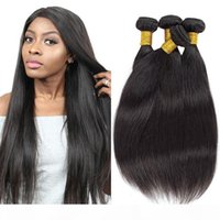 Brazilian Straight Virgin Human Hair Bundles 3Pcs Lot 100% Unprocessed Virgin Brazilian Hair Bulk Human Hair Bundles for Wholesale