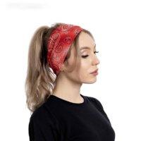Baskı Çiçek Geniş Bantlar Streç Spor Yoga Spor Ter Bandı Hood Kafa Bantları Kadınlar Için Saç Bandı ve Sandy