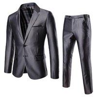 Cross-border Man 2 Piece Suit Business Dress Men's Suits & Blazers