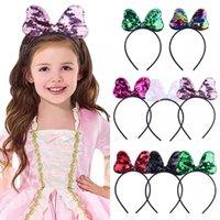무료 DHL 아기 소녀 스팽글 활 헤어 액세서리 아이 소녀 공주 Kawaii Hairbands Headwear Party Supplies Chead 용 Lovely Sweet Headbands