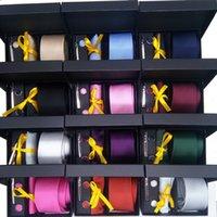 Набор галстуков шеи + клипы + запонки + Hanky в хорошей подарочной коробке модные аксессуары твердые микрофибры галстуки свадебные галстуки специальные тяжелые междущенные мужские подходящие цвета