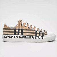 2021 Erkekler Vintage Çek Sneakers Kadın Tasarımcı Ayakkabı Logo Baskı Pamuk Sneaker Kauçuk Alt Kafes Eğitmen Kutusu ile Açık Rahat Ayakkabılar NO288