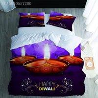 Bedding Sets Happy Diwali 3D Set Printed Deepavali Duvet Cover Twin Full Queen King Size Drop Bedroom Decoration