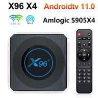 Android 11 X96 X4 Amlogic S905x4 4G 64 GB RGB Light TV Box Support AV1 8K Dual WiFi BT4.1 32 GB Zestaw TOPBOX X96X4