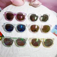 Junge Mädchen Sonnenbrille Mode Kunststoff Rundrahmen Sonnenbrille Party Gunst ultraviolettfest Sonnenbrillen Kinder Strand Eyewear Kid Zubehör WMQ709