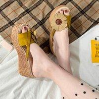 Cunhas chinelos mulheres verão sólido peep toe sapatos mulher casual flip flop plataforma sapatos senhoras sandálias zapatos de mujer sapatos baratos para as mulheres comprar sho h2mg #
